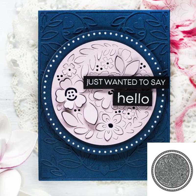 2020 nuevas plantillas de corte circular de flores molde de corte en relieve carpeta plantilla colección de recortes de plantillas álbum tarjetas decoración DIY