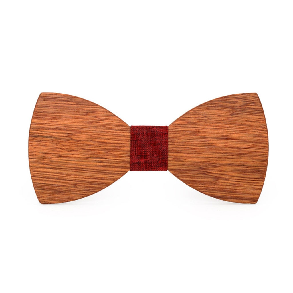 JAYCOSIN pajarita de madera para hombre pajarita de madera para fiesta negocios mariposa corbata para fiesta Premium negro nogal ajustable