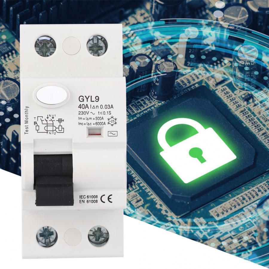 Gyl 2 3p + n 25A/40A/63A 漏洩保護 230VAC 残留電流回路ブレーカ rccb rcbo