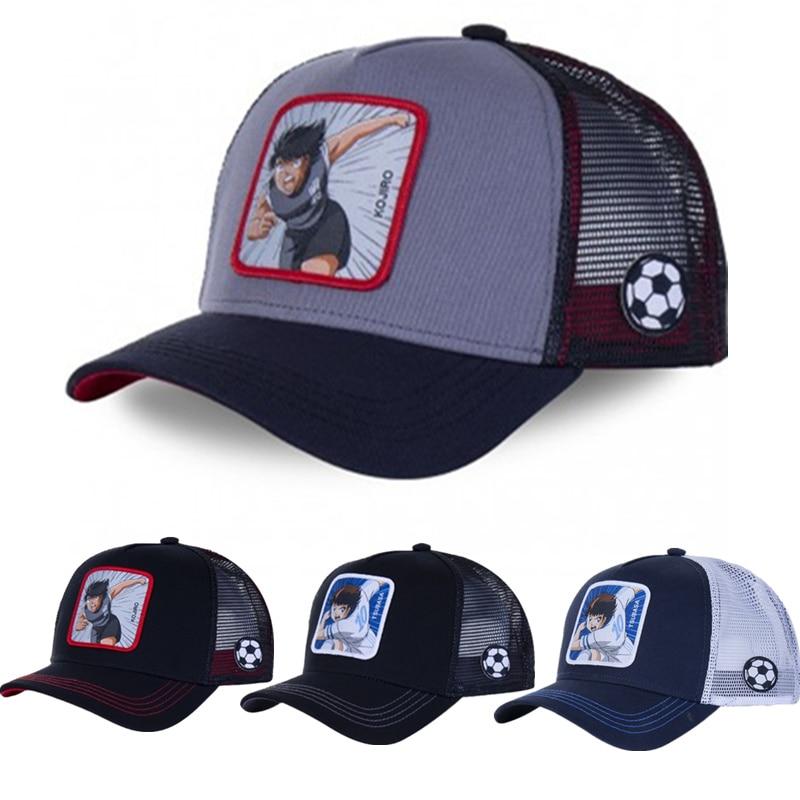 New Brand Anime Captain Tsubasa Snapback Cotton Baseball Cap Men Women Hip Hop Dad Mesh Hat Trucker