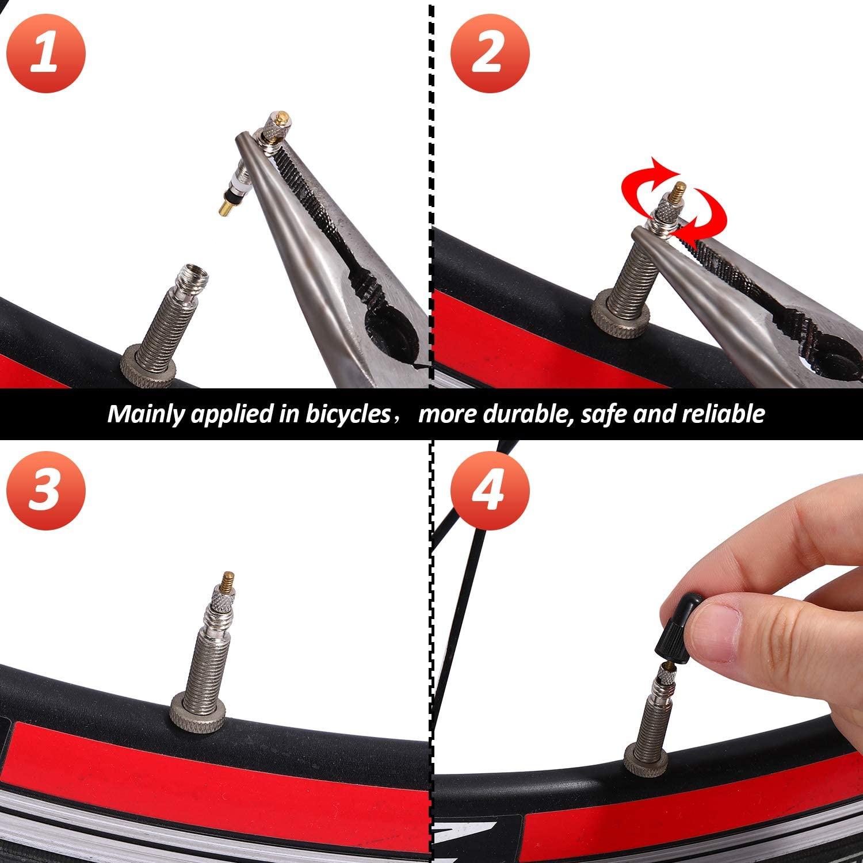 Presta Valve Brass Core Tool MTB Road Bike Tubes Repair Tire Service Parts Bike Tire Air Valve W/ Optional Tool Repair Tire Ser  - buy with discount