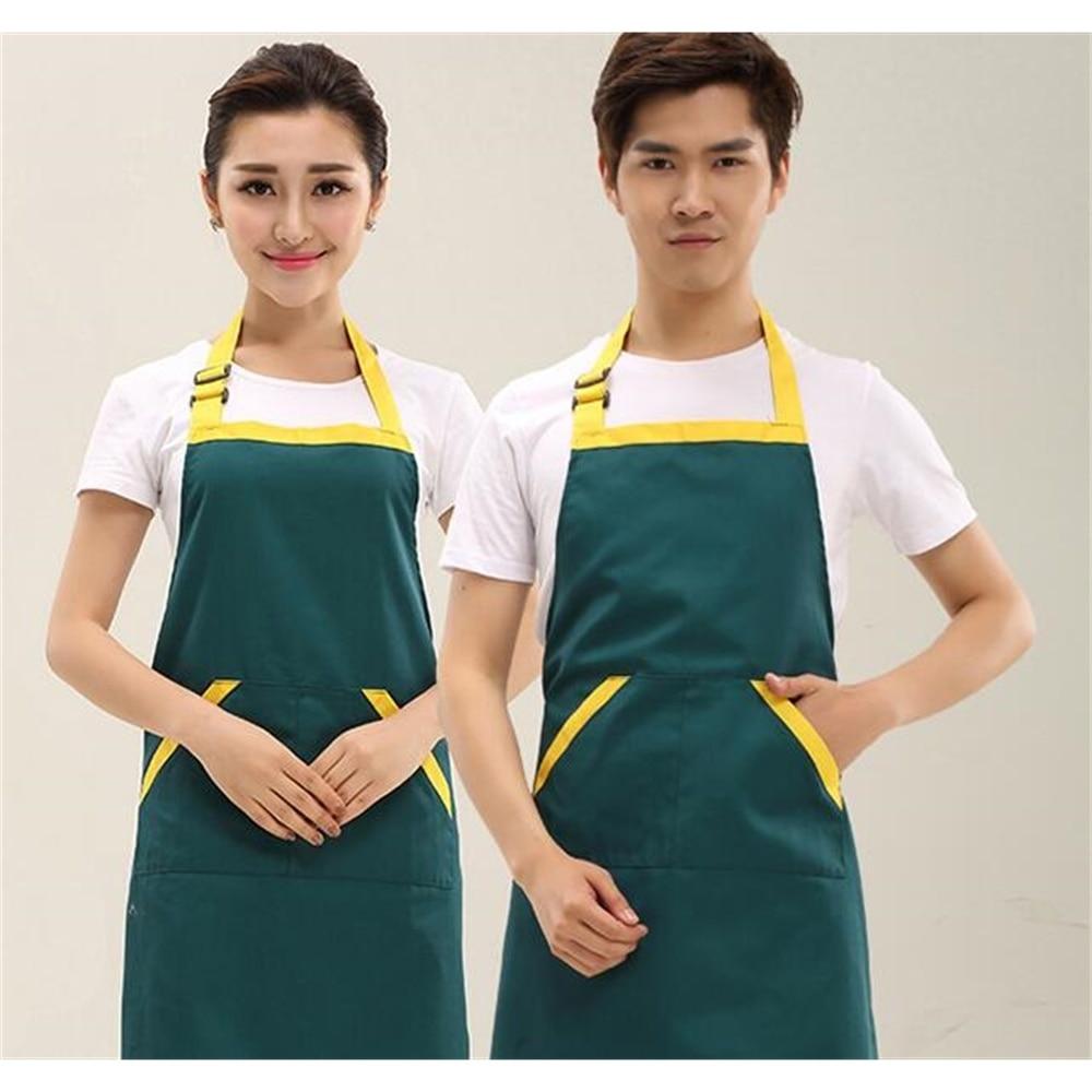 Apron Custom Printing Korean New Design Cute Fruit Nail Tea Drink Shop Store Adult Work Clothes Apron Kitchen Clothing enlarge