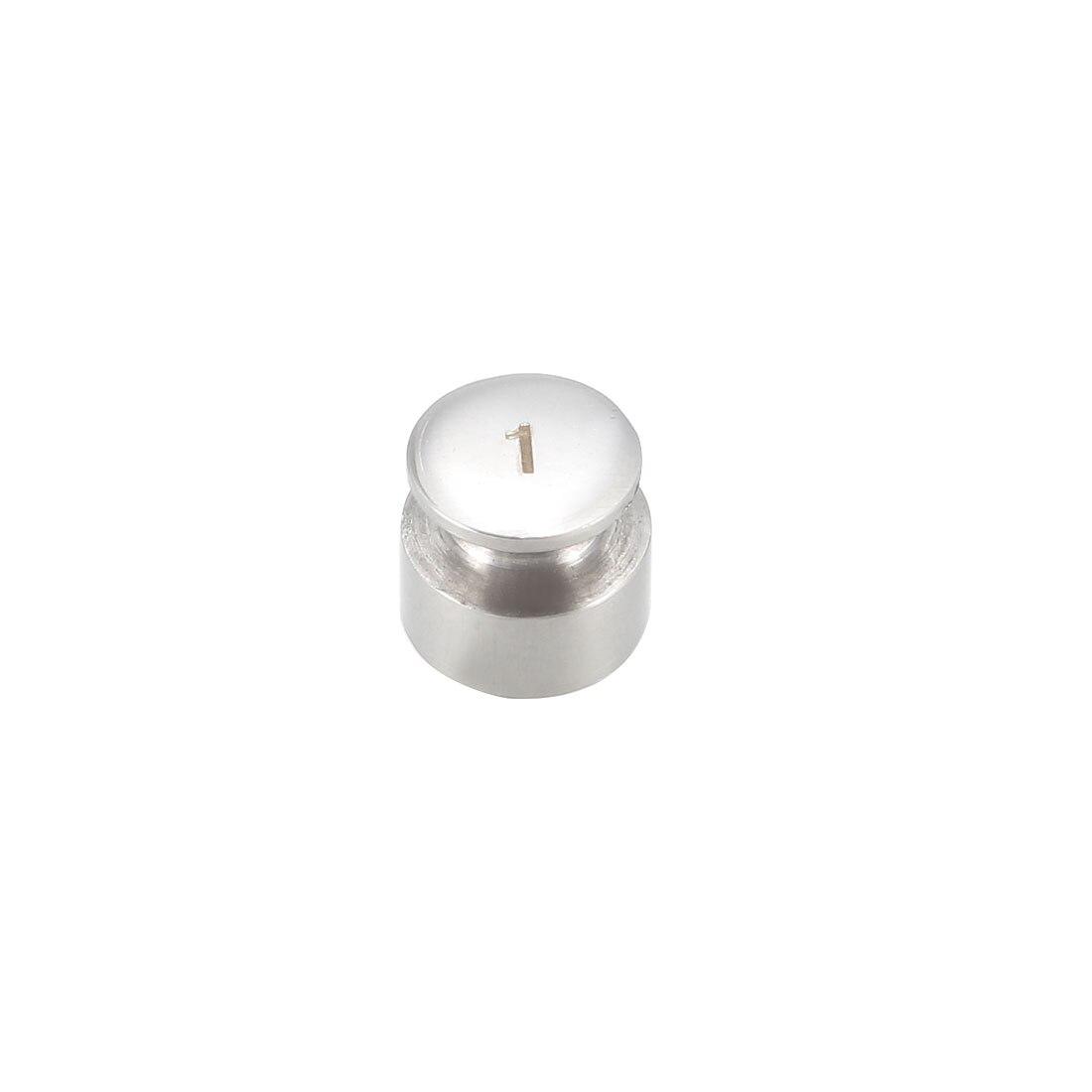 Peso de calibración uxcell Gram 1g F1 acero inoxidable de precisión para balanzas balanza Digital Balanza de bolsillo Balanza de quilates