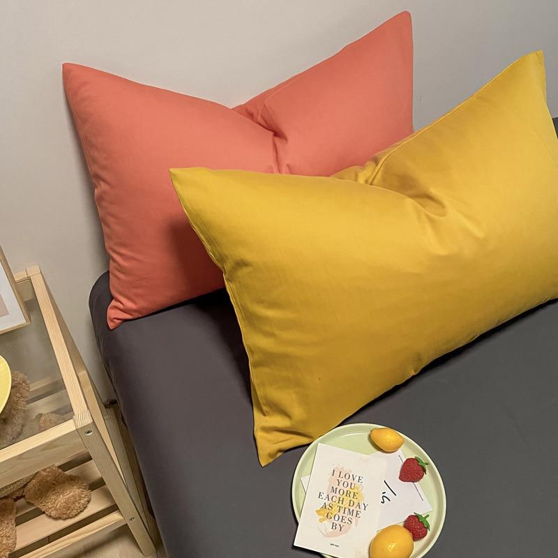 سادات بسيطة لون نقي المخدة المنزلية غسل القطن وسادة الأساسية المثانة مجموعات من منشفة وسادة واحدة