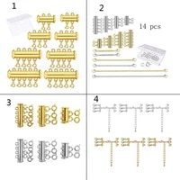 1 set gold silver plated brass layered bracelet necklaces slide magnetic tube lock with lobster clasps jewelry findings