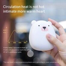 Chauffe-mains USB Portable Double face   Mignon ours de dessin animé, Rechargeable, chauffage rapide, 4000mAh