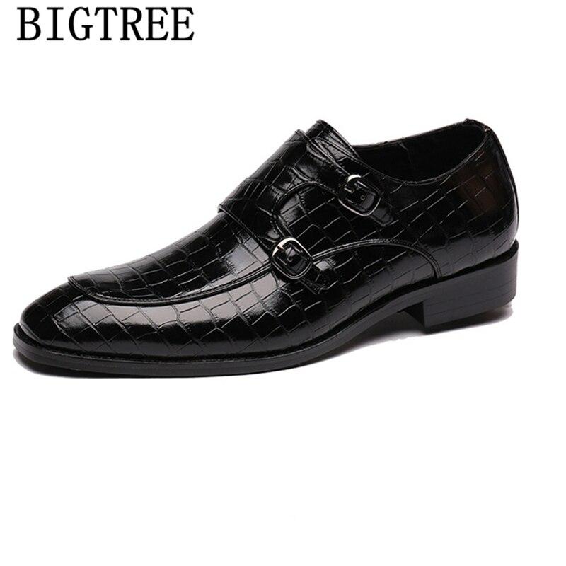 Zapatos con Correa de doble monje para Hombre, mocasines negros, calzado clásico,...