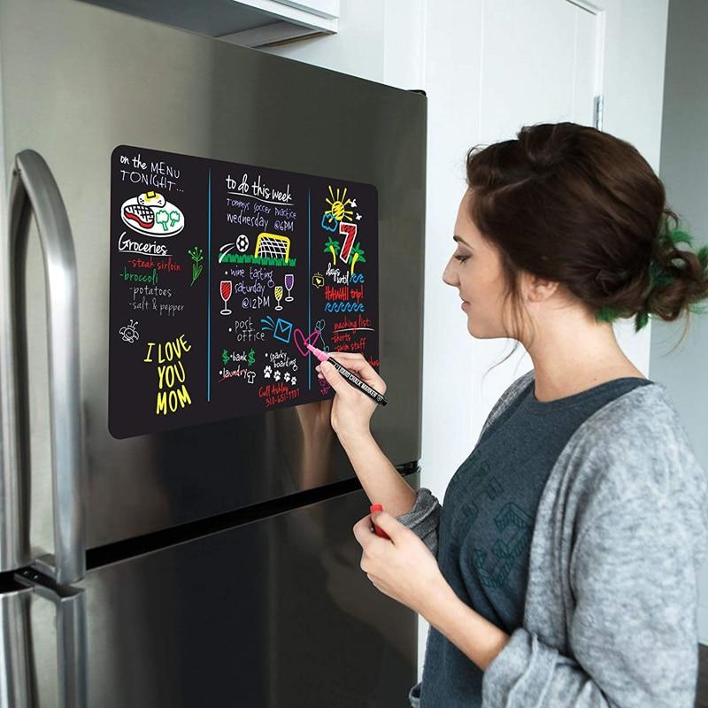 A4 Size Magnetic Blackboard small chalkboard sticker Kitchen menu whiteboard Weekly Planner Fridge Sticker Message Board