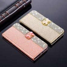 L-FADNUT étui de téléphone portefeuille paillettes pour HUAWEI Mate 20 Pro P20 Lite P30 Nova 4e housse de béquille de luxe 360 Capa de protection