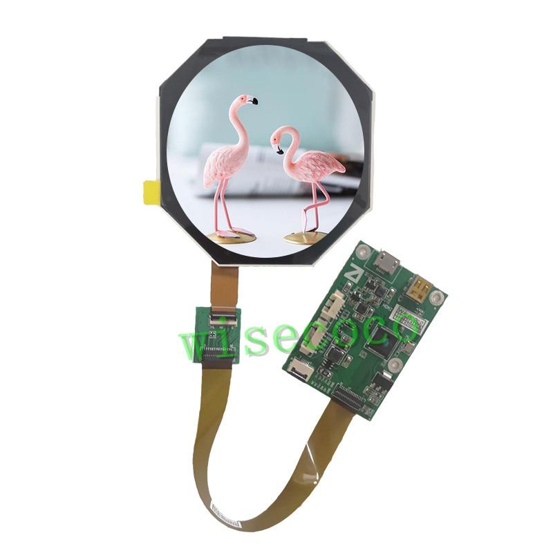شاشة LCD مستديرة IPS TFT مقاس 2.5 بوصة ، 480 × 480 ، لوحة تحكم MIPI
