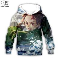 kimetsu no yaiba 3d printed hoodies kids zip pullover boygirl funny sweatshirt tracksuit hoodedpantsfamily t shirt style 4
