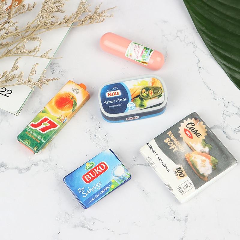 Maison de poupée Miniature, supermarché, nourriture, échelle 1/6, nécessités quotidiennes pour jouer, jouets de décoration de cuisine, 4 pièces