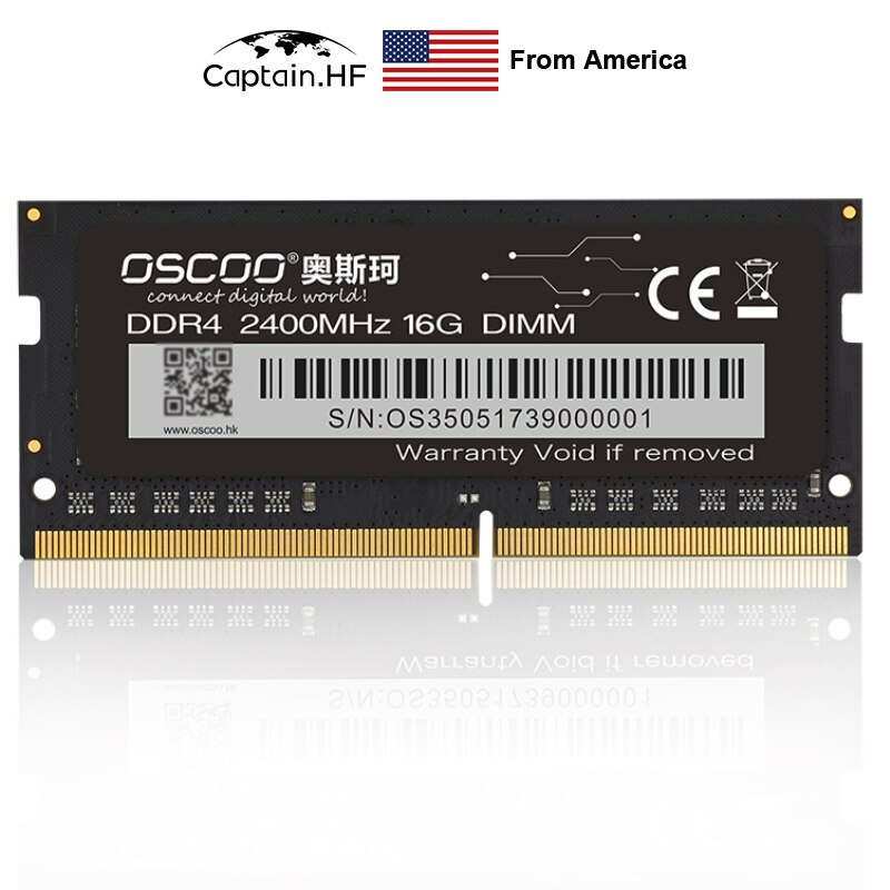 US Captain Memory Module DDR4 2400MHz RAM 16G 8G 4G 260PIN 1.2V SODIMM for Laptop, PC, Desktop