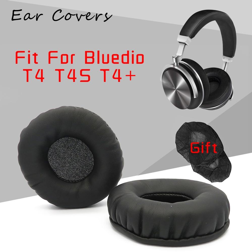 Coussinets d'oreille pour Bluedio T4 T4S, oreillettes de remplacement en cuir PU, mousse éponge