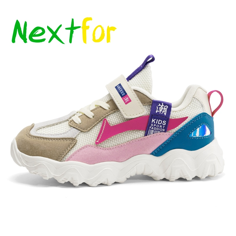 Spring Children Girls Running Shoes Soft Bottom Kids Designer Shoe Walking Shoes For Girls Hook & Lo