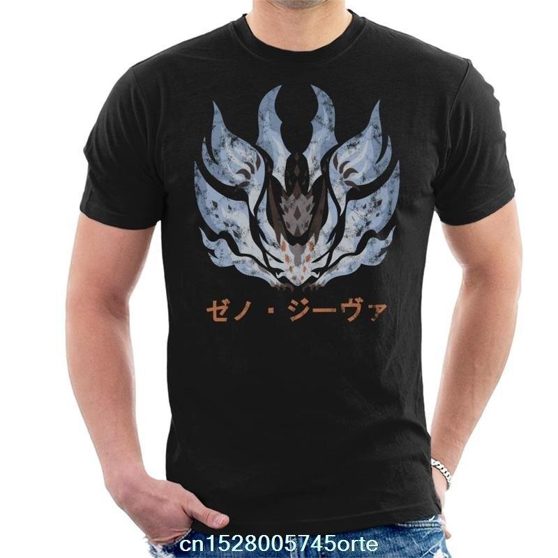 Printed camiseta Monster Hunter World Xeno Jiiva Kanji Icon Mens T-Shirt 100% cotton women tee shirt