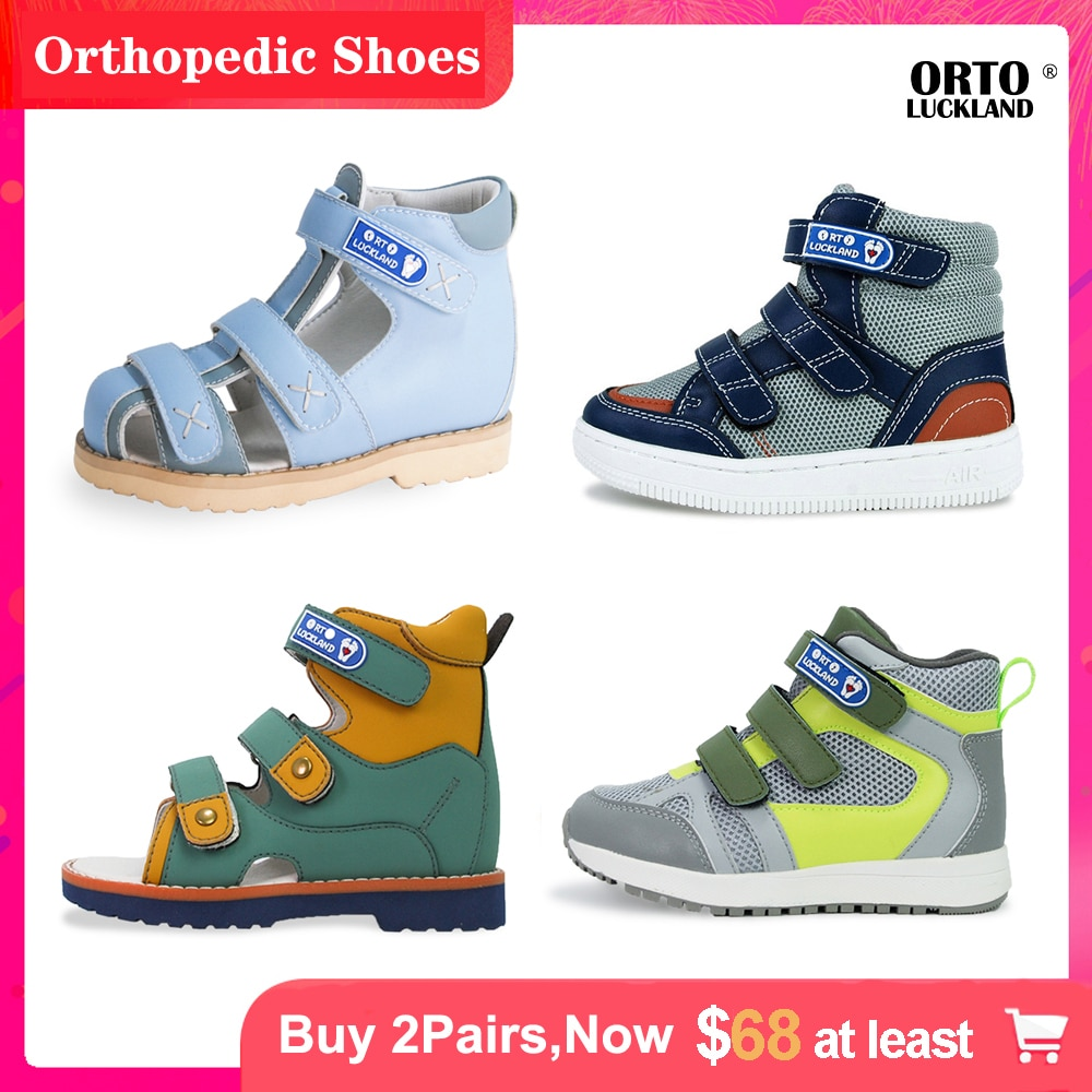 Boys Girls Spring Boots Orthopedic Children Casual Shoes For Kids Toddlers Baby Leather Fashion Cute Sneakers Sandals