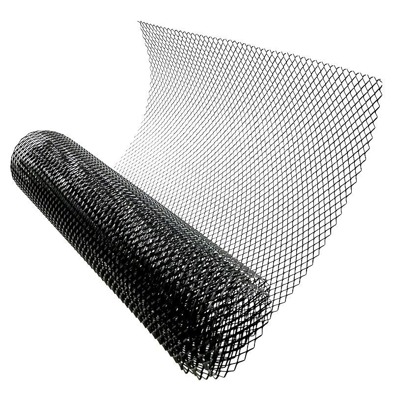 100 × 33cm Front Intake Grille Aluminium Rhombus Mesh Auto Tuning Grill 12mm x 6mm Schwarz