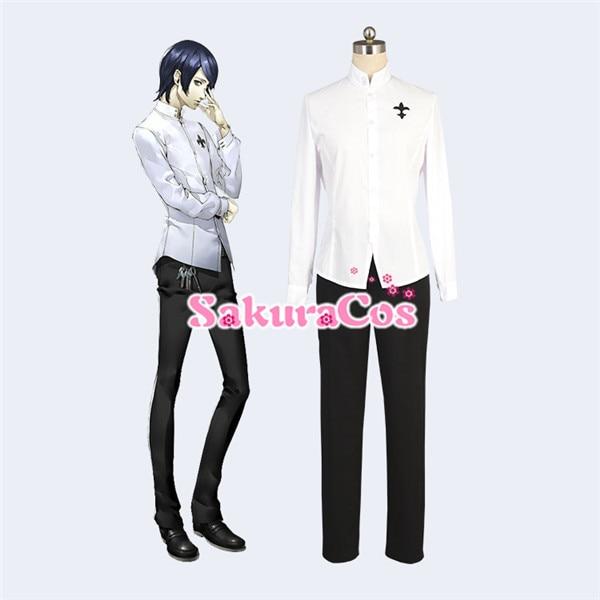 Traje de Cosplay de Persona 5 Yusuke Kitagawa, traje de Año Nuevo, uniforme escolar, camisa + Pantalones