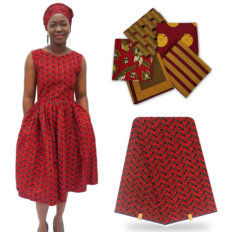 Gran oferta, telas de cera de algodón, cera africana, tela de cera H16073106