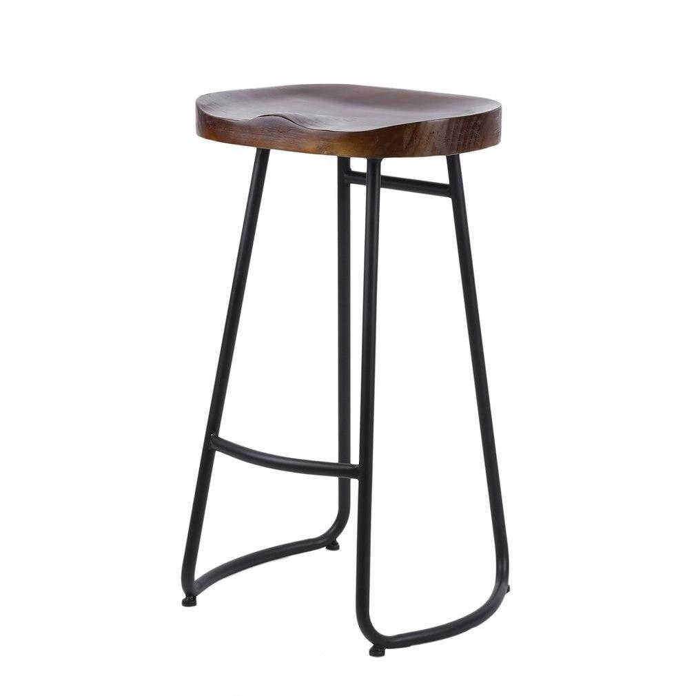 (Доставка от DE) Винтажный барный стул Сельский высокий барный стул прочный домашний стул для столовой портативный домашний стул УНИВЕРСАЛЬ...