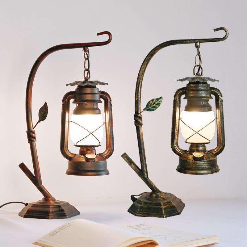 lampada de mesa retro lampada cavalo lampada oleo barra quarto cabeceira estudo personalidade