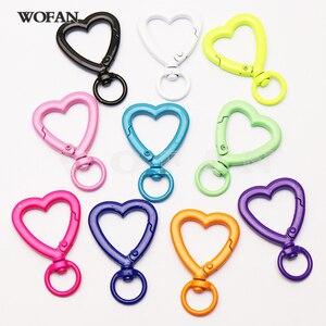 10Pcs Summer colors Enamel colors pendants for women jewelry  Heart Pendant  fashion jewelry pendant   for women 51210
