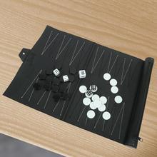 Échiquier en cuir PU échiquier Portable damier haute qualité Backgammon haut de gamme jeu déchecs
