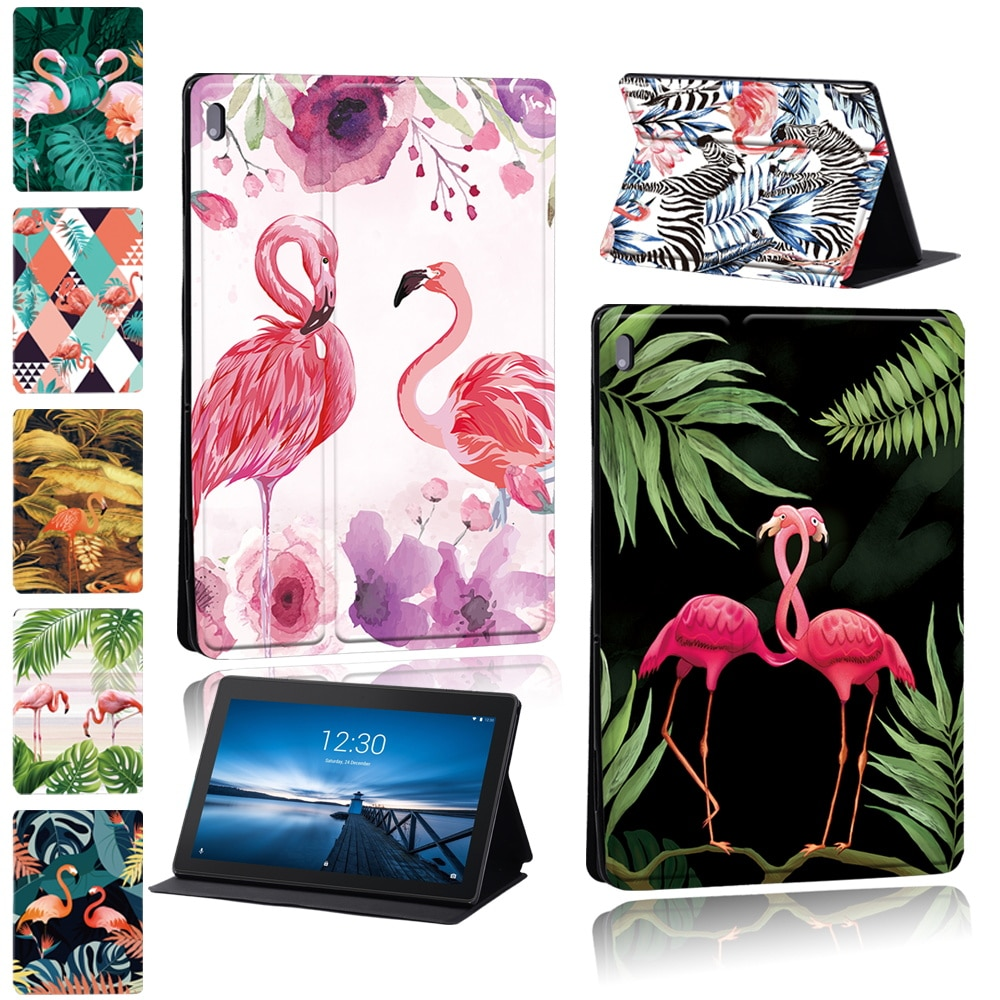 Tablet Case for Lenovo Tab M10/Tab E10/Tab M10 Plus PU Leather Cover Case + Free Stylus