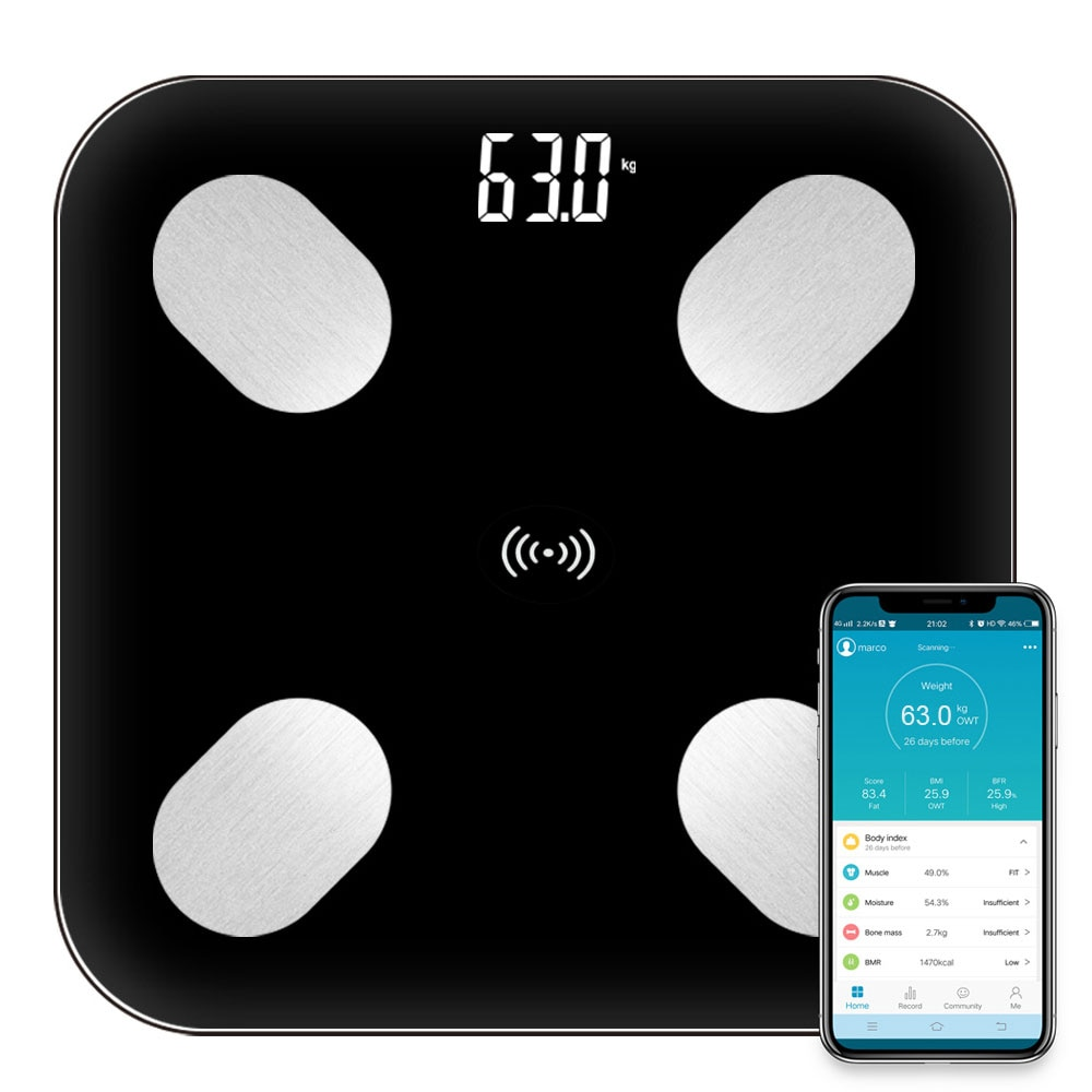 Body Fat Scale Floor Scientific Smart Electronic LED Digital Weight Bathroom Scales Balance Bluetooth APP Android IOS
