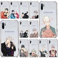yuri on ice amine phone case transparent for samsung s9 s10 s20 huawei honor p20 p30 p40 xiaomi note mi 8 9 pro lite plus cover