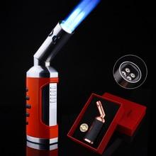 Jobon New Welding triple Torch Turbo Lighter Outdoor Cigar Pipe Kitchen Spray Gun Jet Lighter BBQ Wi