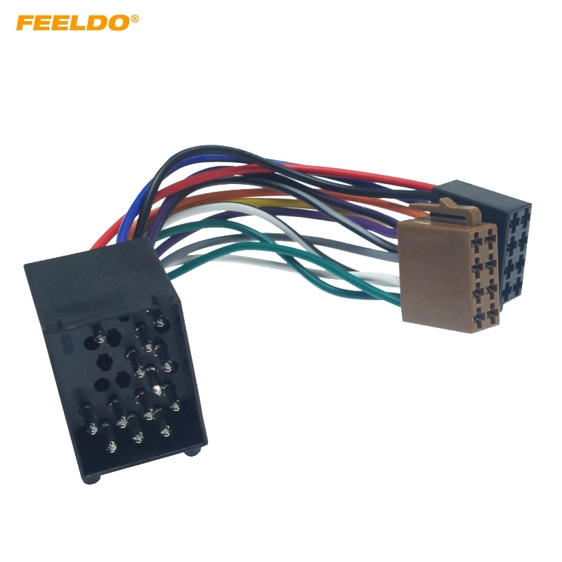 FEELDO Radio de coche mujer ISO adaptador retorcer el arnés de cables para BMW E31/E32/E34/E36/E38/E39/E46/Z3/Mini # CA6256