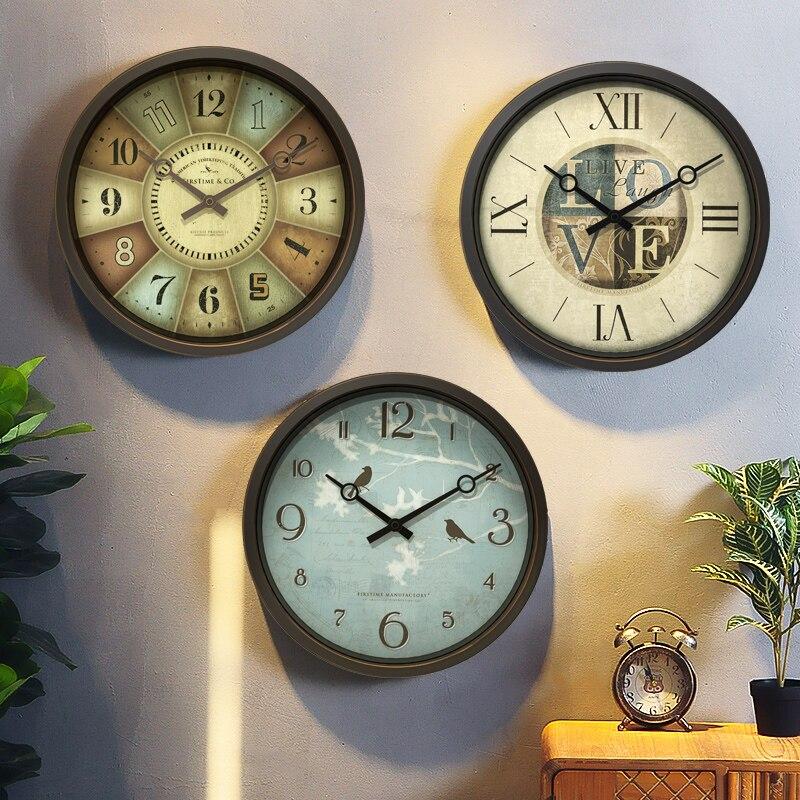 Reloj de Pared de estilo europeo, moderno y creativo, redondo, de plástico,...