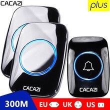 CACAZI 60 Chime 110DB 300M Wireless Doorbell Waterproof Remote EU AU UK US Plug Smart Door Bell Batt