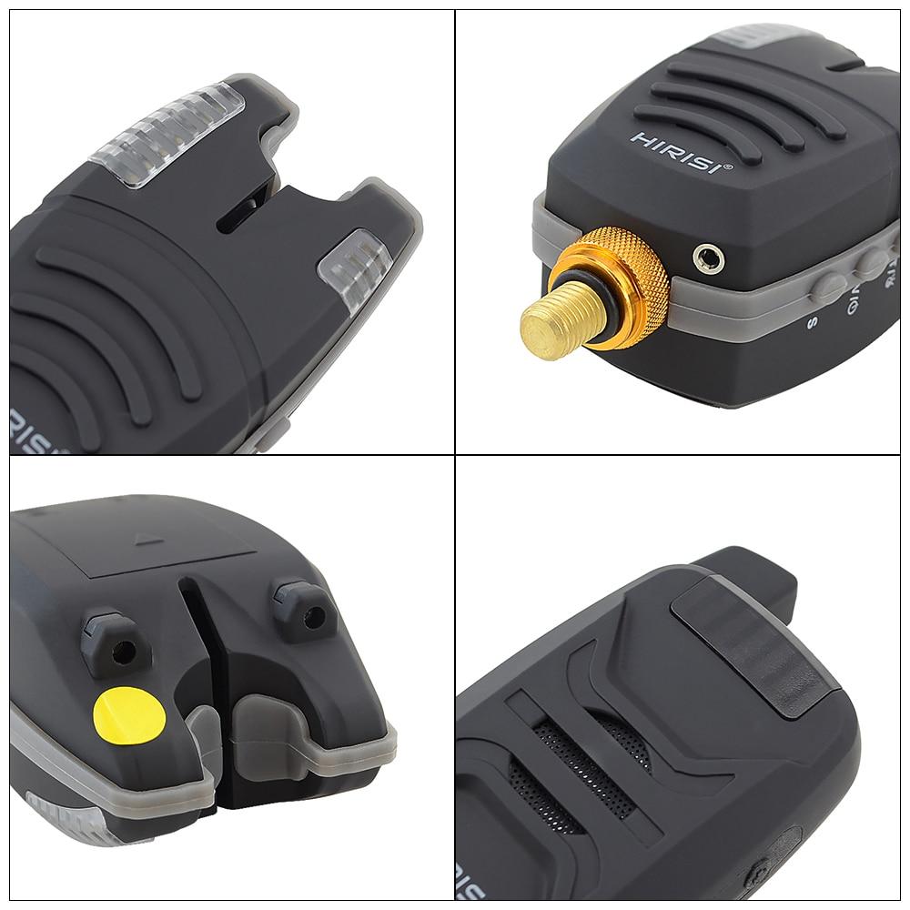 Waterproof Carp fishing bite alarm set with wireless fishing alarm 1+4 set with sound LED enlarge