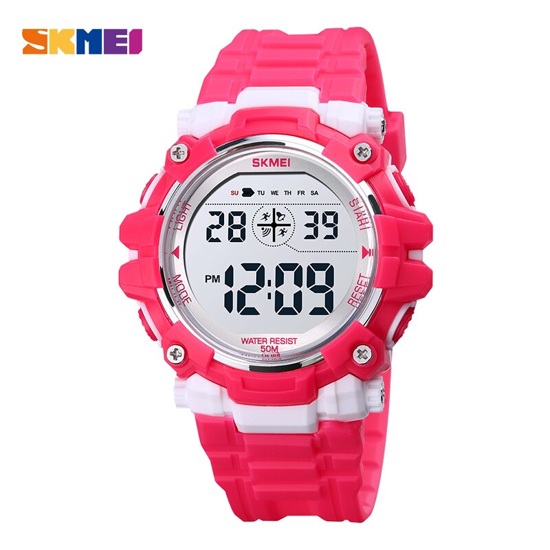 Childrent Brand Digital Watch Casual 50M Waterproof Sport Watches SKMEI Fashion Kids Electronic Wristwatch Countdown Clock Boys
