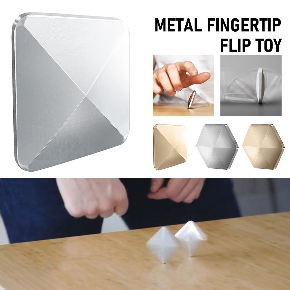 2020 nuevo artefacto de descompresión Flip Metal FingertipToy de escritorio Flip Toy Flip adulto sorpresa regalo de bolsillo creativo para niños