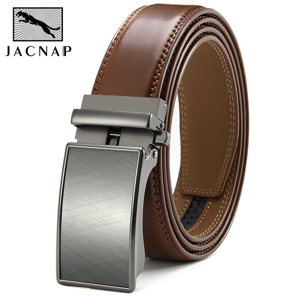 JACNAIP мужской ремень из натуральной кожи высокого качества класса люкс Автоматическая пряжка из сплава ремень, Новая Коллекция мужские пояс...