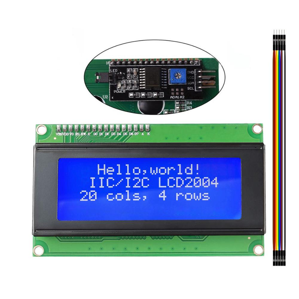 LCD2004 2004 I2C 20x4 2004A Blue Screen LCD Module IIC/I2C Serial Interface Adapter Module for arduino UNO MEGA2560 недорого