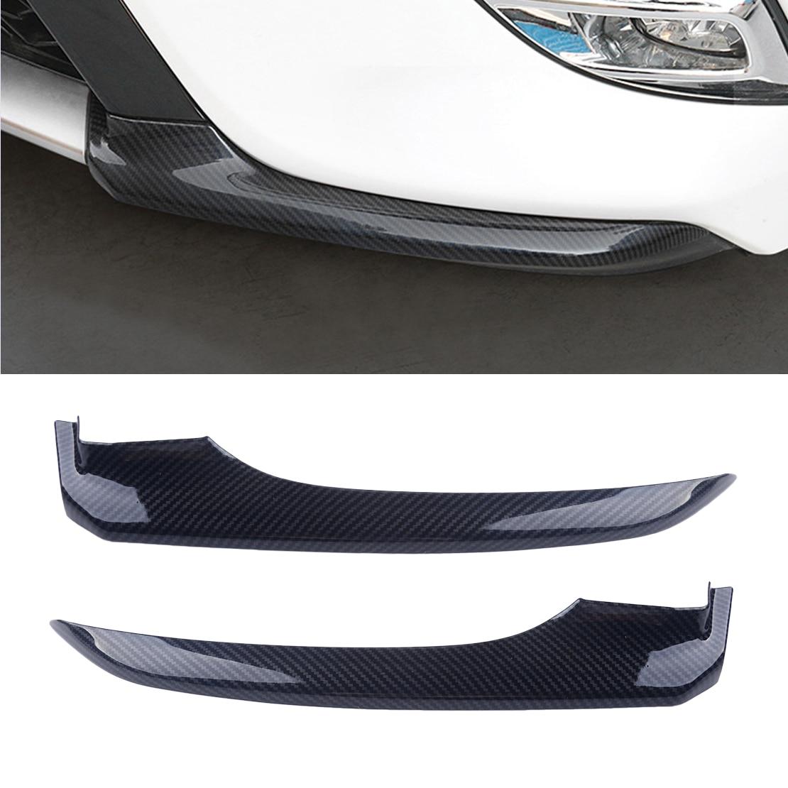 DWCX 2 uds textura de fibra de carbono para coche parachoques delantero cubierta de esquina embellecedor pegatina ABS apto para Toyota Camry 2018