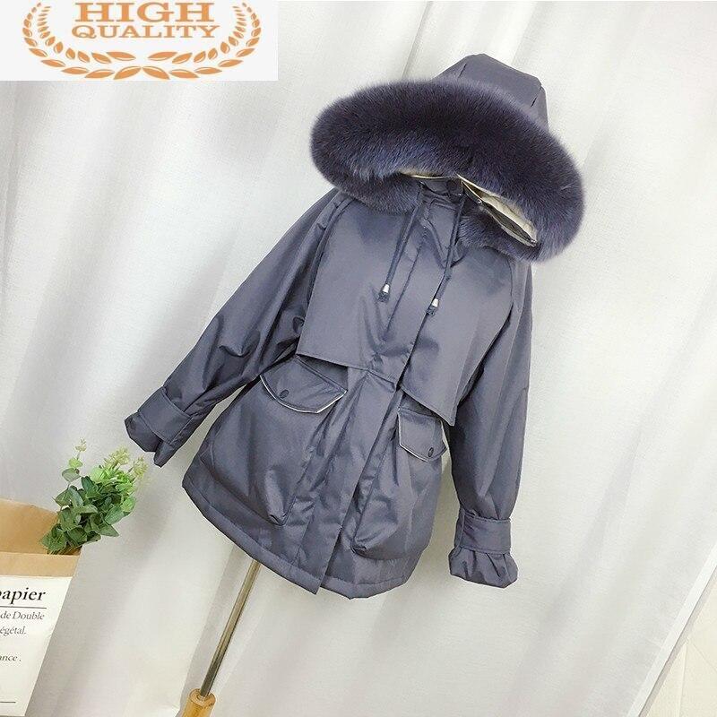 Abrigo coreano blanco con capucha para mujer, chaqueta de plumón de pato,...