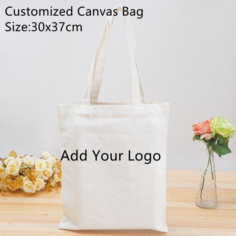 Wholesales Canvas Bag 30pcs For Sales Print Your Logo Bag Qulified Reusable Women's Canvas Bag Women Handbags Size 30x37cm