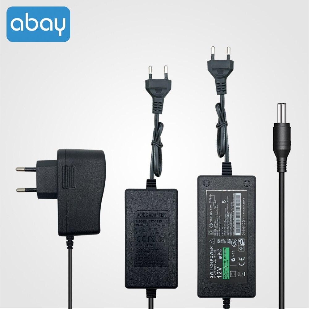 Adaptador de alimentação 12v 2a 3a 5a fonte de alimentação ac 100v-240v 2000ma ue eua uk au plug para led strip luz cctv câmera ip