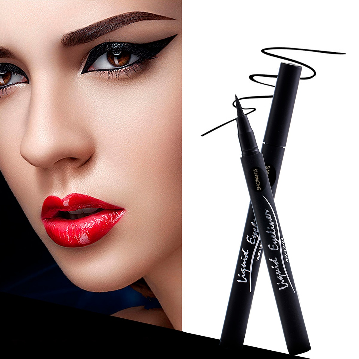 SHOPANTS 1pcs Professional Long-lasting Eyeliner Pencil Waterproof Eyeliner Liquid Eyeliner Pen Makeup Eye Liner Pencil недорого