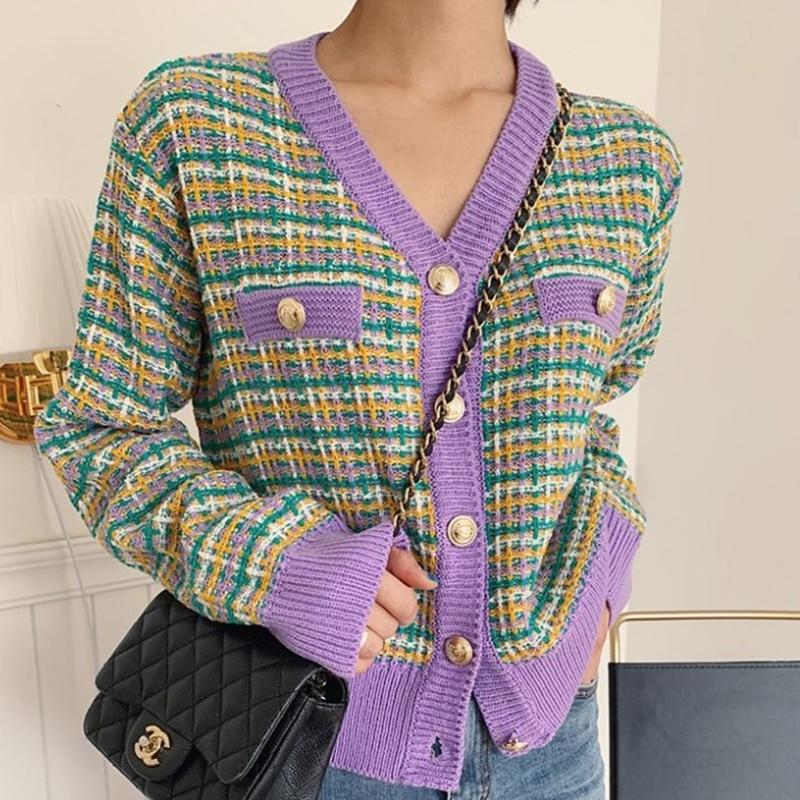 Mulheres Blusas de Malha Cardigans Kawaii do vintage Suéter de Lã 2020 Nova Outono Inverno Coreano Senhora Cardigans Camisola Roupas