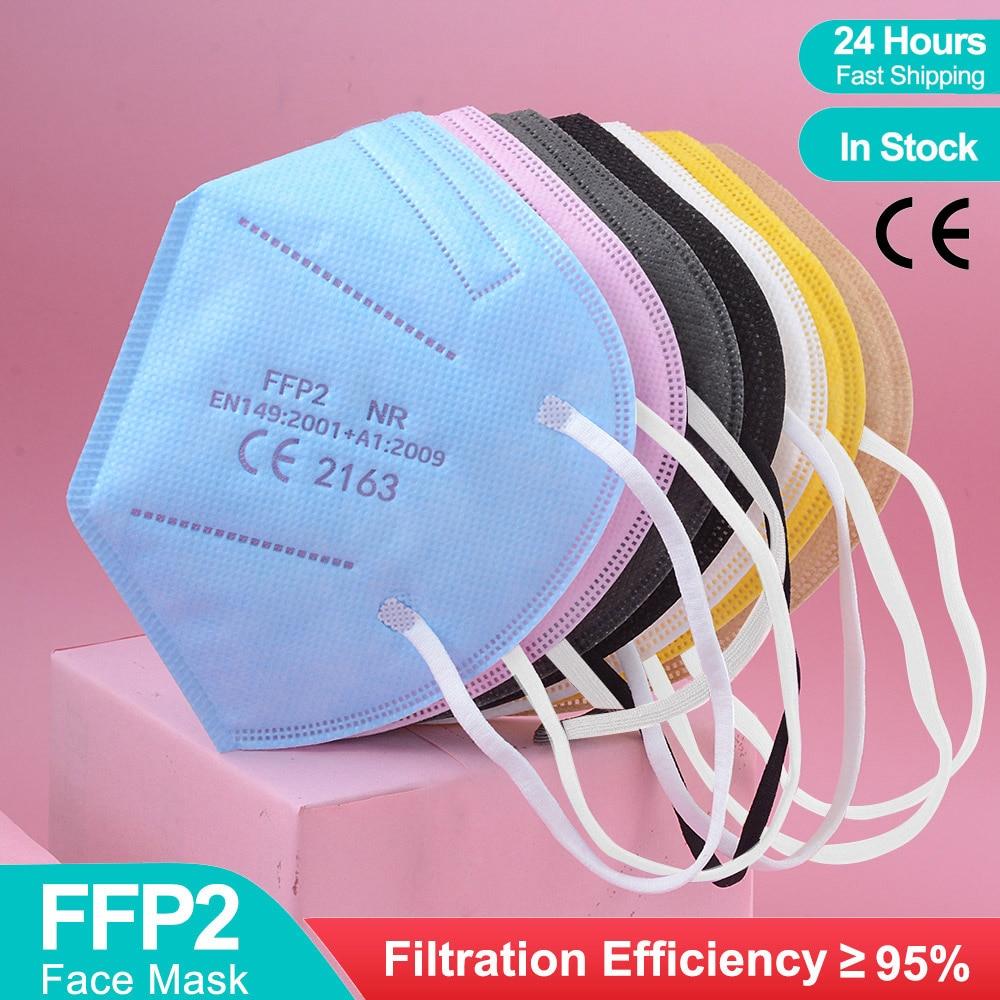 10-100Pcs FFP2 Mask CE KN95 Facial Face Masks 5 Layers Filter Protective Health Care Masks 95% Respirator fpp2 Mouth Mascarillas