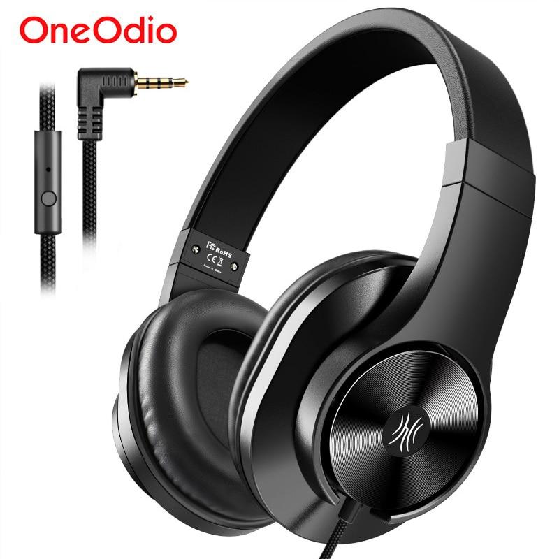 Oneodio T3 3.5 مللي متر السلكية سماعات سماعة المحمولة ستيريو على الأذن عقال سماعة مع ميكروفون للكمبيوتر الهاتف PC