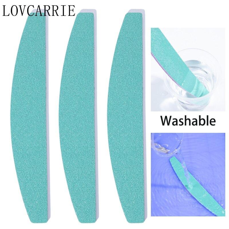 LOVCARRIE 10 unid/set de uñas profesional archivos 100 240 impermeable papel de lija uñas archivos Bloque de Filer Lima de herramientas para las uñas