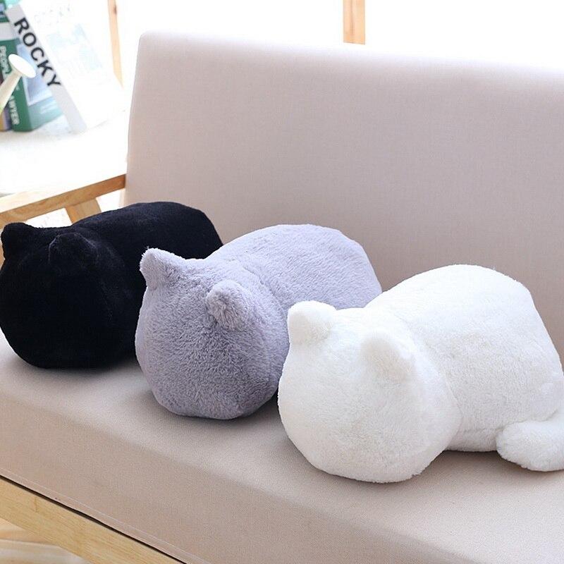 33x24x18CM Super Cat Toys Cushions Pillow Soft PP Cotton Plush Back Shadow Cat Filled Animal Pillow Home Decors Toys 3 Colors